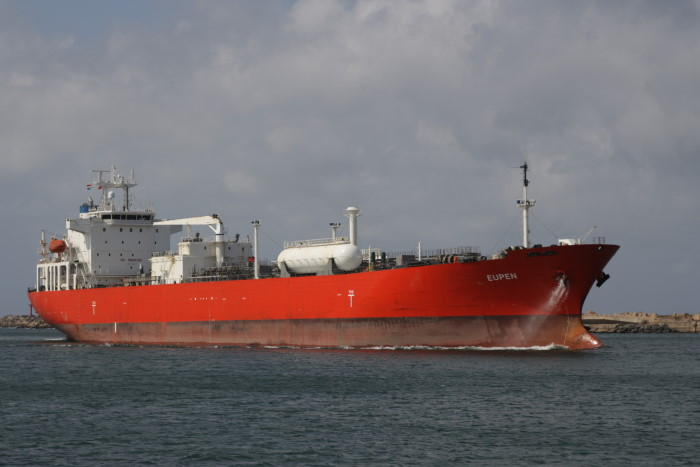 LPG tanker Eupen arriving in Durban. Pictures: Keith Betts, featured in Africa PORTS & SHIPS maritime news