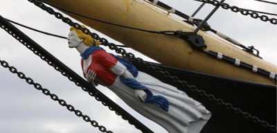 Glenlee's figurehead, featured in Africa PORTS & SHIPS maritime news