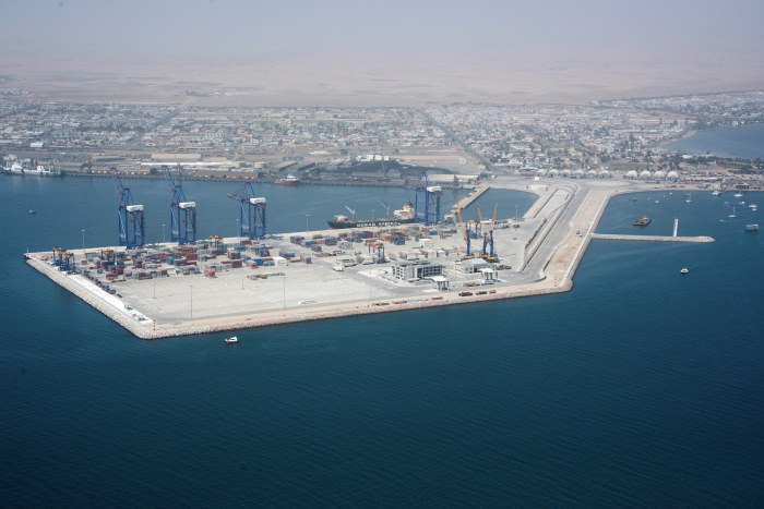 Port of Walvis Bay's new container terminal, now in service. Picture: Namport, featured in Africa PORTS & SHIPS maritime news