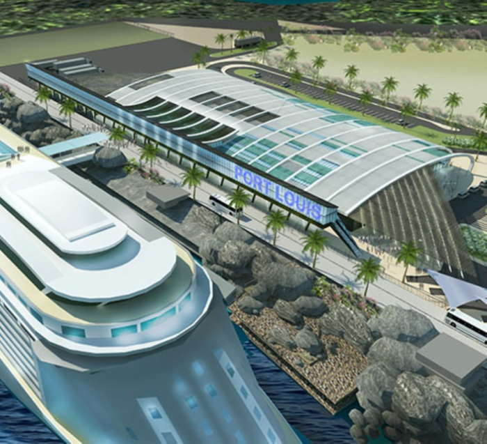 Port Louis' planned cruise terminal, featured in Africa PORTS & SHIPS maritime news
