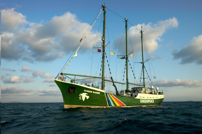 Greenpeace's activist ship Rainbow Warrior II, featured in Africa PORTS & SHIPS maritime news