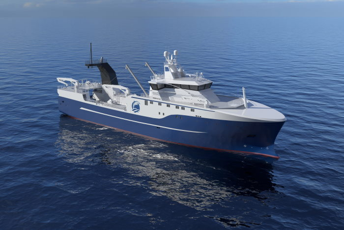 VARD stern trawler design for Lunto, featured in article in Africa PORTS & SHIPS maritime news