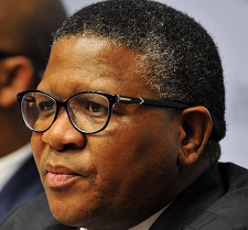 Minister Fikile Mbalula, featured in Africa PORTS & SHIPS maritime news