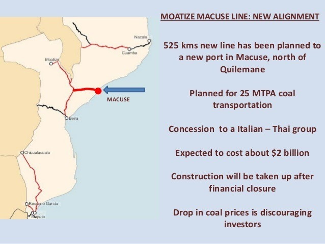 Map of Macuse and new railway, featured in Africa PORTS & SHIPS maritime news