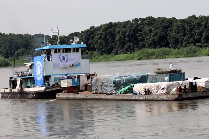 Barge on the White Nile river. Picture courtesy: UN, featured in Africa PORTS & SHIPS maritime news