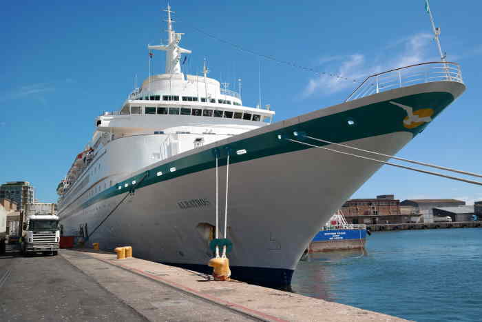 Albatros on her berth at Cape Town last Monday. Picture: TNPA, featured in Africa PORTS & SHIPS maritime news