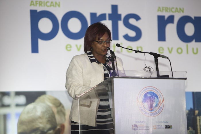 TNPA's Acting GM: Corporate Affairs & External Relations, Jacqueline Brown, delivered the official welcome address on Day 1, featured with Africa PORTS & SHIPS maritime news