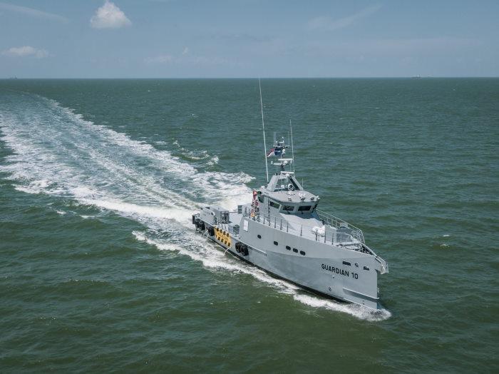 Damen FCS 3307 Guardian Patrol vessel, featured in Africa PORTS & SHIPS maritime news