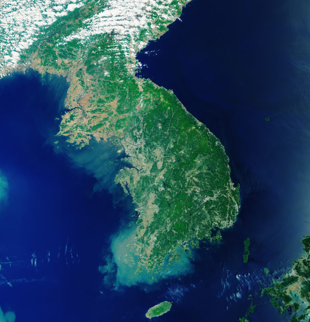 Korean Peninsula. Released 18/10/2019 10:00 am. Copyright contains modified Copernicus Sentinel data (2019), processed by ESA, CC BY-SA 3.0 IGO Id 432324. Copernicus ©. ESA ©. Illustration reproduced by kind courtesy of the European Space Agency ©, featured in Afric PORTS & SHIPS maritime news