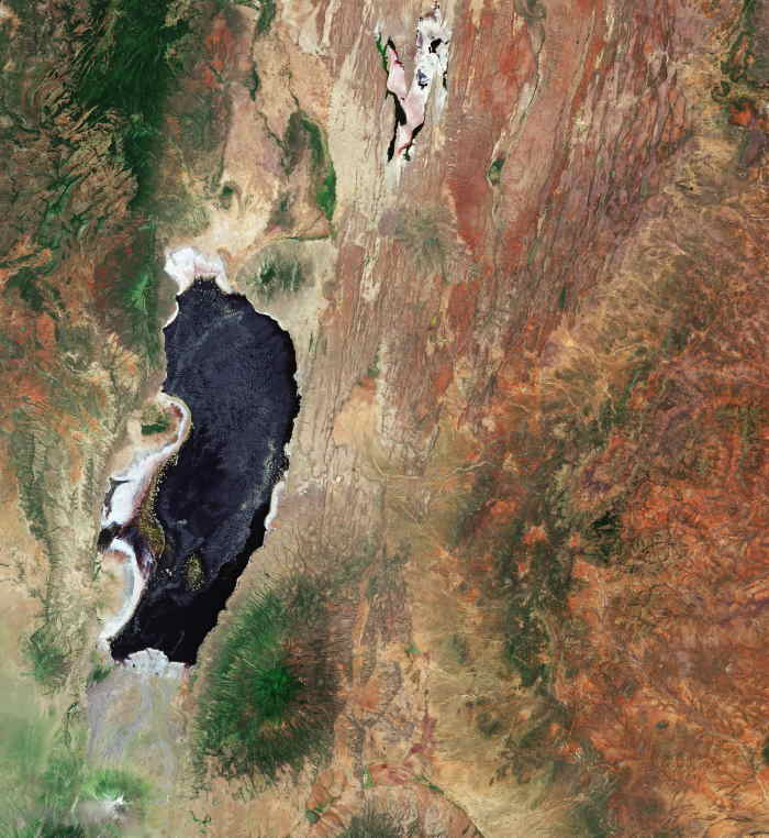 Title Lake Natron, Tanzania. Id 431660. Released 11/10/2019 10:00 am. Copyright contains modified Copernicus Sentinel data (2019), processed by ESA, CC BY-SA 3.0 IGO. ESA © Based on material kindly provided by ESA ©, featured in Afriva PORTS & SHIPS maritime news