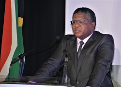 South African Transport Minister, Fikile Mbalula. Picture: SAMSA, featured in Africa PORTS & SHIPS maritime news