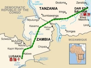 The route of TAZARA, featured in Africa PORTS & SHIPS maritime news