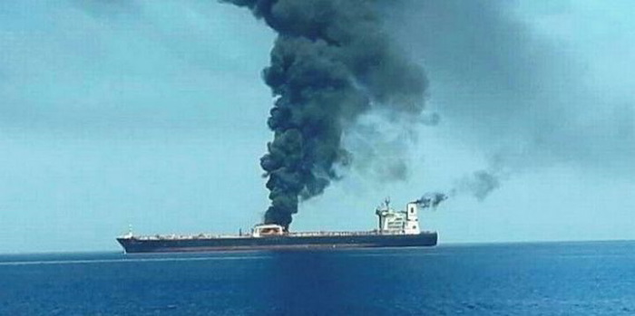 Tanker Sabiti shortly after being struck by reported missiles, sone 60 n.miles form the Saudi coast, featured in Africa PORTS & SHIPS maritime news