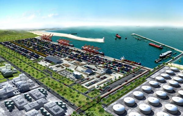 One of the proposed schemes for the new port at Bagmoyo in Tanzania, featured in Africa PORTS & SHIPS maritime news