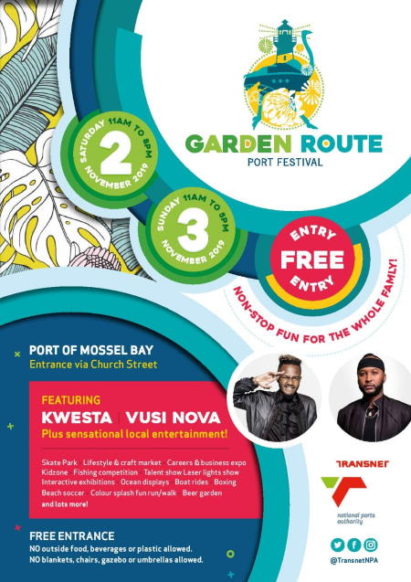 Port of Mossel Bay Garden Route Port Festival poster, featured in Africa PORTS & SHIPS maritime news