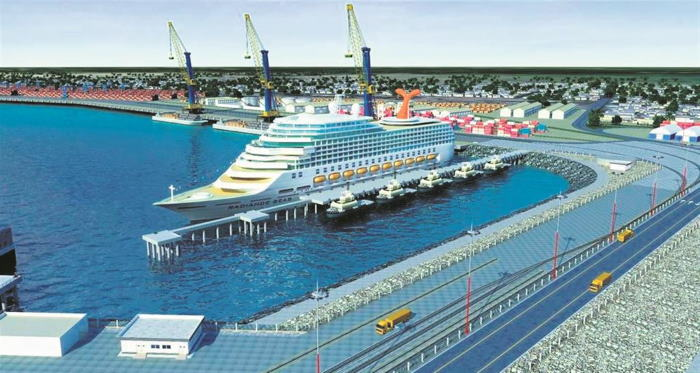 Artist's impression of Port of Walvis Bay's new cruise ship jetty, featured in Africa PORTS & SHIPS maritime news