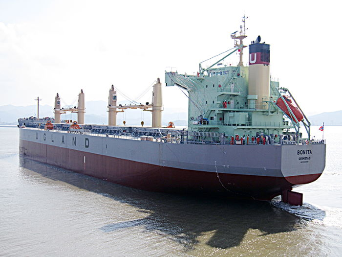 Bulk carrier Bonita, attacked by pirates on Saturday. Picture: Ugland Marine Services, featured in Africa PORTS & SHIPS maritime news