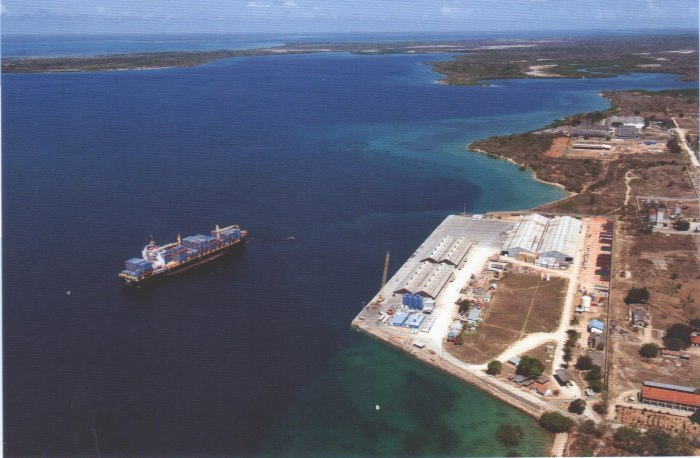 Old (existing) port of Mtwara, featured in Africa PORTS & SHIPS maritime news