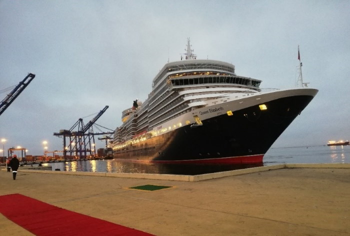 Red carpet for a Queen, Walvis Bay's new cruise terminal. Picture: Namport, featured in Africa PORTS & SHIPS maritime news
