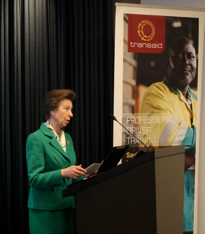 Transaid patron HRH The Princess Royal praises the transport and logistics industry for its support to Transaid over the past year, featured in Africa PORTS & SHIPS maritime news