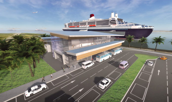 Drawing of Mombasa's new cruise terminal, featured in Africa PORTS & SHIPS maritime news