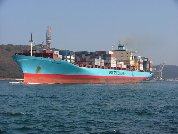 Lars Maersk sailing from Durban in 2005. Picture: Terry Hutson, featured in Africa PORTS & SHIPS maritime news