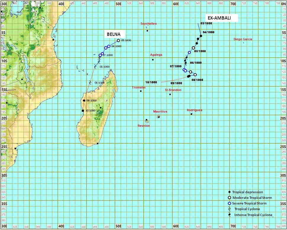 Map: Mauritius Meteorological Services, featured in Africa PORTS & SHIPS maritime news