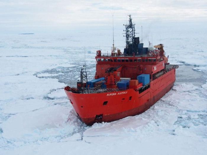 The Australian icebreaker Aurora Australis, fgeatured in Africa PORTS & SHIPS maritime news