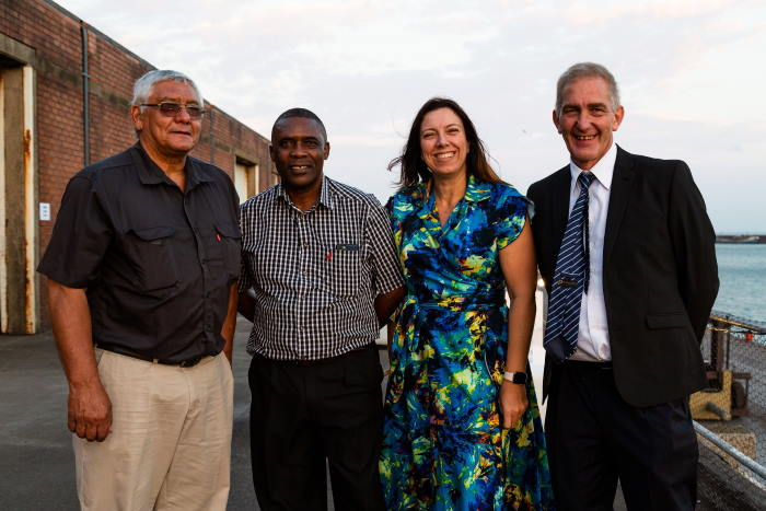 BPO's staff are from the left Jimmy Prinsloo (General Manager), Wandile Mzamo (Director Strategy & Corporate Affairs), Taryn Lange (Operations Director) and Jannie Roux (MD), all of BPO, and featured in Africa PORTS & SHIPS maritime news