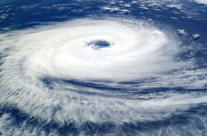Cyclone Catarina over the Indian Ocean taken from the International Space Station 26 March 2004. Image: Wikipedia Commons featured in Africa PORTS & SHIPS maritime news