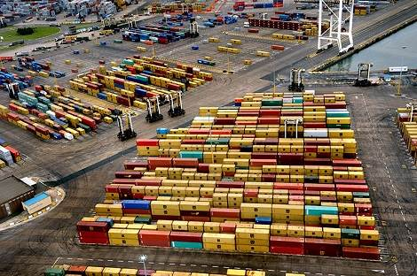 Containers at Durban Container terminal, featured in Africa PORTS & SHIPS maritime news