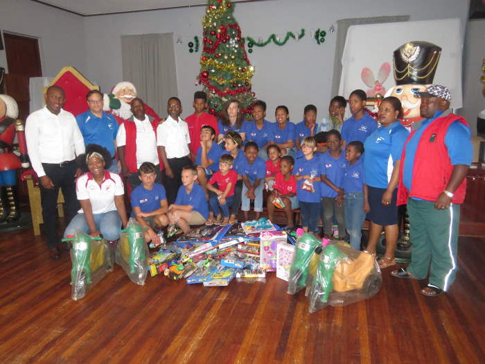 EP Children's Home receive their fair share of the fishing day's gifts collected, featured in Africa PORTS & SHIPS