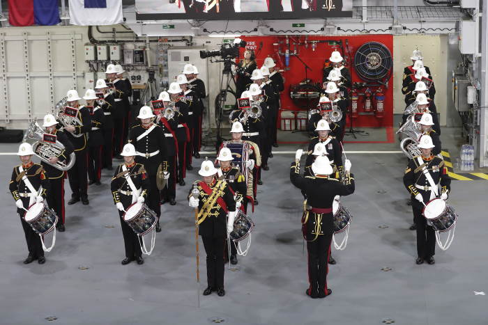 3 Pictured is the Royal Marine Band during the commissioning ceremony, featured in Africa PORTS& SHIPS maritime news