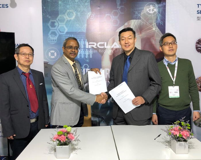 Representatives of IRClass and FMT signing the cooperation agreement at Marintec China, Featured in Africa PORTS & SHIPS