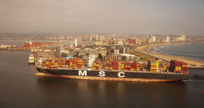 MSC RAVENNA: Pictures: Trevor Steenkamp / NauticalImages, featured in Africa PORTS & SHIPS maritime news
