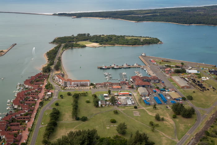 Naval Island in the Port of Richards Bay, featured in Africa PORTS & SHIPS