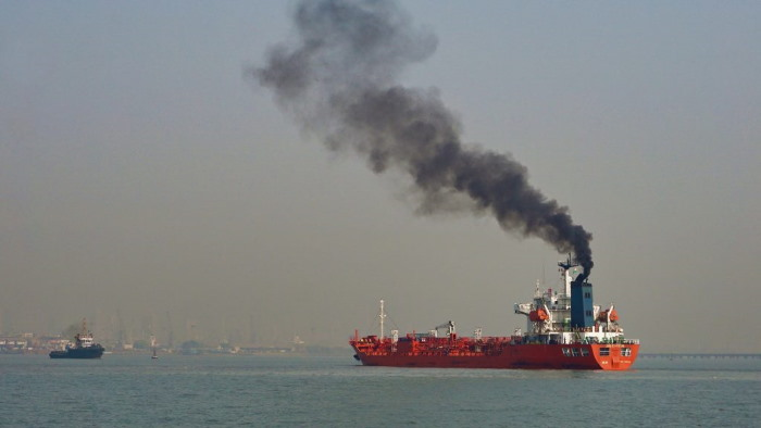 Shipping emission pollution, featured in Africa PORTS & SHIPS