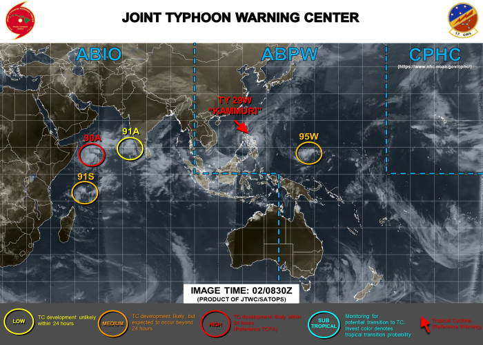 Tropical Storms in Indian Ocean, featured in Africa PORTS & SHIPS maritime news Picture: Joint Typhoon Warning Centre