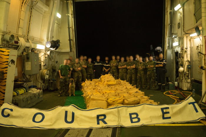 FS Courbet's first drug haul made in December 2019, featured in Africa PORTS & SHIPS maritime news