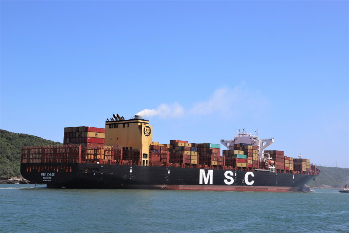 MSC CHLOE at Durban. Pictures: Keith Betts, featured in Africa PORTS & SHIPS maritime news
