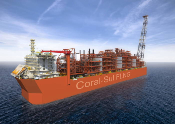 Artist impression of the completed FLNG Coral Sul, featured in Africa PORTS & SHIPS maritime news