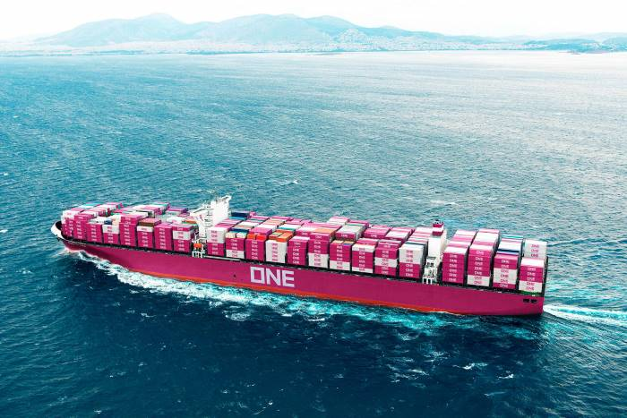 ONE container vessel, isplayed in Africa PORTS & SHIPS