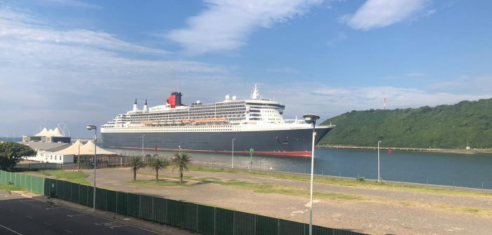 Queen Mary 2 arriving in Durban on Tuesday. Picture: Keith Betts, featured in Africa PORTS & SHIPS