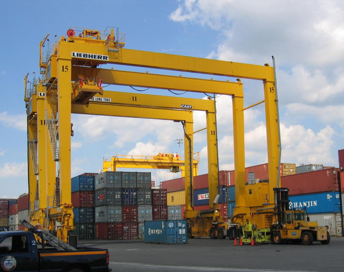 Lieber rubber tyre gantry crane similar to those being supplied to the DPWorld Berbera Terminal, featured in Africa PORTS & SHIPS
