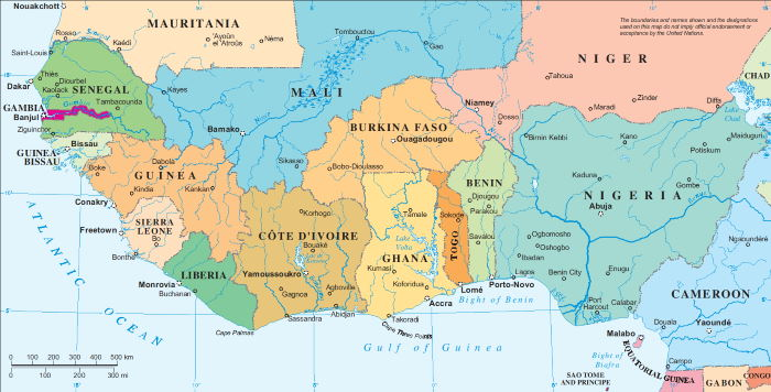 map of West Africa