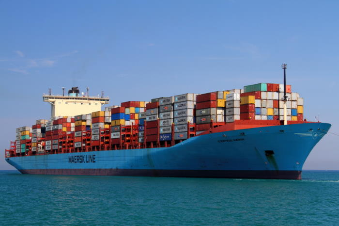 Gjertrud Maersk in Koper, Slovenia, picture courtesy Aljaz Hrvatin/Shipspotting, and featured in Africa PORTS & SHIPS