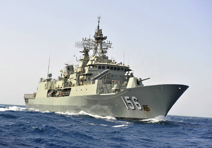 HMAS Toowoomba. Picture: Royal Australian Navy, featured in Africa PORTS & SHIPS