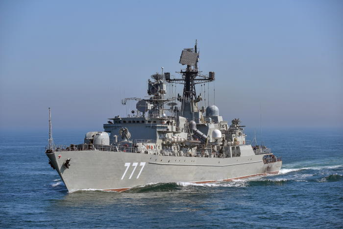 Russian Navy frigate Yaroslav Mudry, seen here in the English Channel. Picture: Wikipedia, featured in Africa PORTS & SHIPS