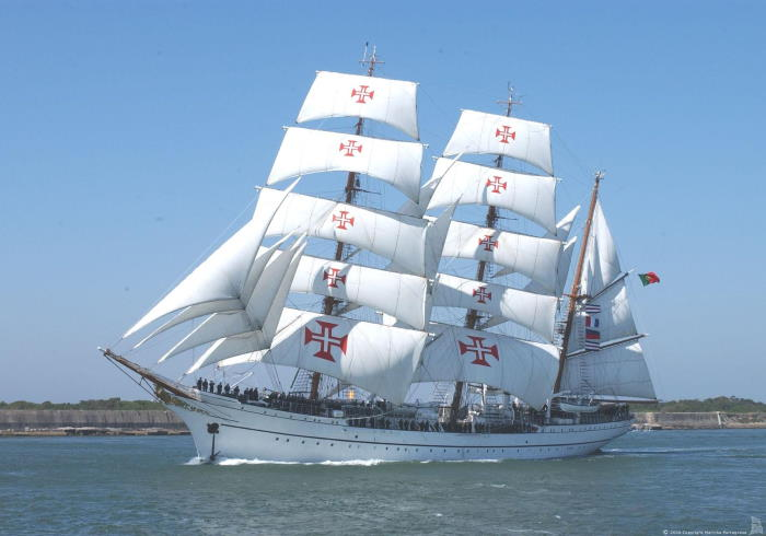 Sail training ship Sagres, which called briefly at Cape Town. Picture: wordpress.com, featured in Africa PORTS & SHIPS