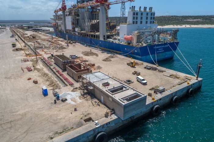 The civil work in progress at Berth B100, featured in Africa PORTS & SHIPS maritime news